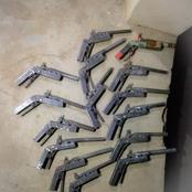 See Guns That Were Recovered By NDLEA From Two Men In Niger State