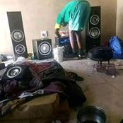 Man bought himself R9000 sound system but he does not have a Bed and lives in a dirty room