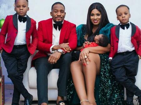Junior Pope Shares A New Adorable Photo With His Lovely Wife And 3 Boys