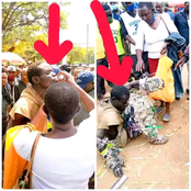 Tears Drop As Mother Who Allegedly Lost Her Son 3 Years Ago Finds Him As A Mad Man In The Street !!