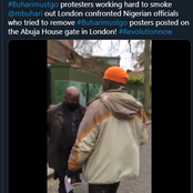 #BuhariMustGo Protesters Confront Nigerian Officials In London [VIDEO]