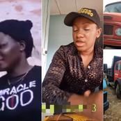 Meet the Anambra woman who is a tipper driver, she is happy with her work