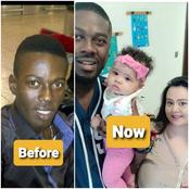'Before & After' Photos Of Man After He Left Nigeria