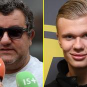 Agent Mino Raiola Plans TO Make Erling Haaland First Ever £1m-per-week Footballer