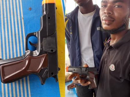 After Being Arrested, See The Gun These Thieves Use In Robbing People (PHOTOS)