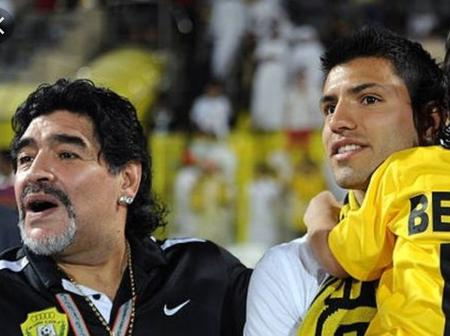 This Popular Man City Striker Was Former Son-In-Law Of The Legend, Late Diego Maradona.