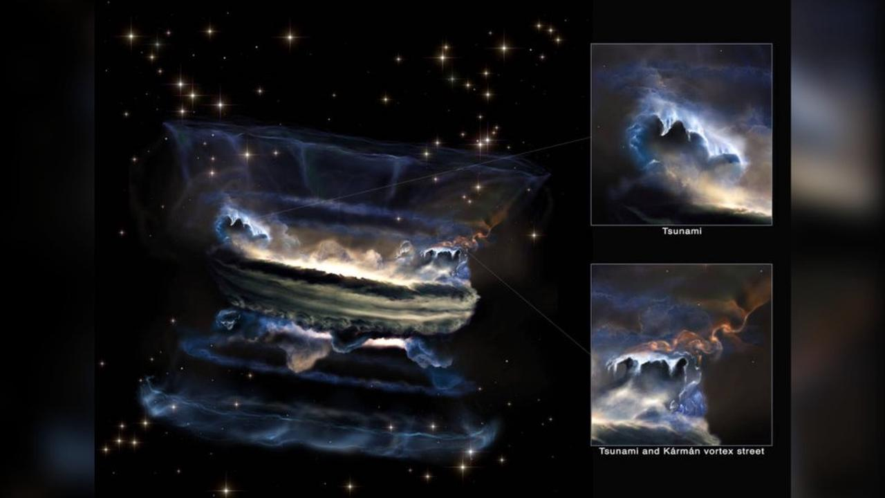 Supermassive black holes may create the largest 'tsunamis' in the universe