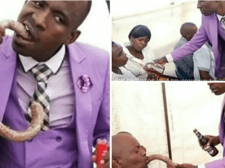 Pastor Feeds Church Members With Communion Suspected To Be Alcoholic And Long Sausage