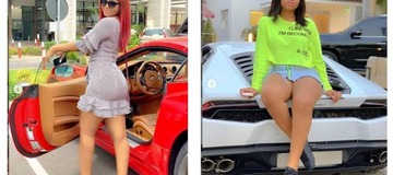 8 Nollywood actresses posing with their cars. [photos]