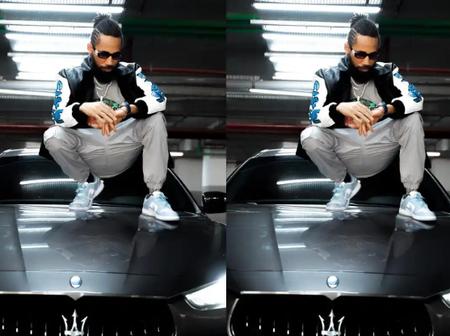Celebrities And Others React As Rapper, Phyno Shows Off His Maserati