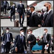 PHOTOS : Real Madrid players dressed in suits land in UK ahead of their match against Liverpool