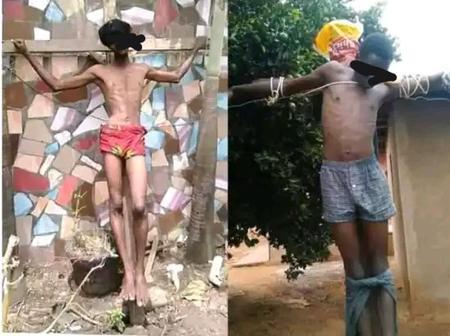 Voici les images des personnes qui ont imitées Jésus- Christ pendant le chemin de croix en 2021
