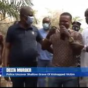 So Sad: Police Uncovered Where A Lady Was Buried By Her Abductors In Delta Sate (Video)