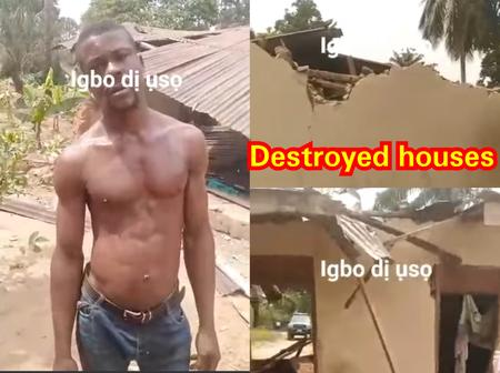 See how these two brothers demolished their respective houses because of quarrel