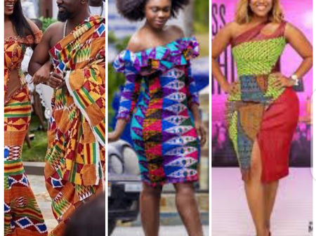Ghanaian Celebrities Taking Kente And Other African Prints And Dresses To The World