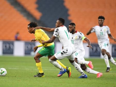 Percy Tau Rescues Bafana-Bafana as They Drew at Home Against Ghana
