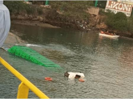 Another vehicle plunges into Indian Ocean at Likoni channel