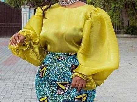 See How You Can Rock Your Ankara Piece With The Organza Blouse Styles