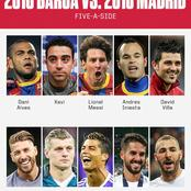 2010 Barcelona Players Versus 2016 Real Madrid Players; Which Side Will Win?