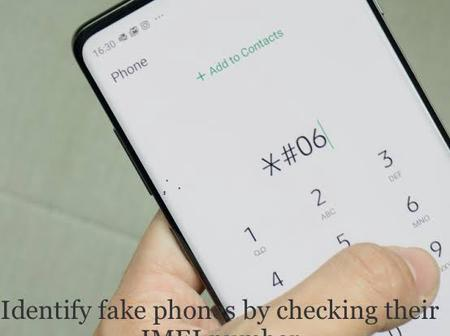 Identify fake phones by checking their IMEI number with a simple code