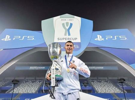 More Pictures Of Ronaldo After Winning The Super Cup And Breaking All Records In Football History.