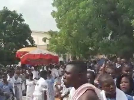 People Gather In Hundreds At Apetorku Gbordzi Shrine On Easter Sunday