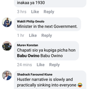 Kenyans React on a Member of Parliament after Spotted in a Kibanda Eating Chapati Beans