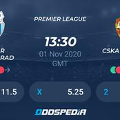 Today's Six Game Predictions To Win You 4560/=