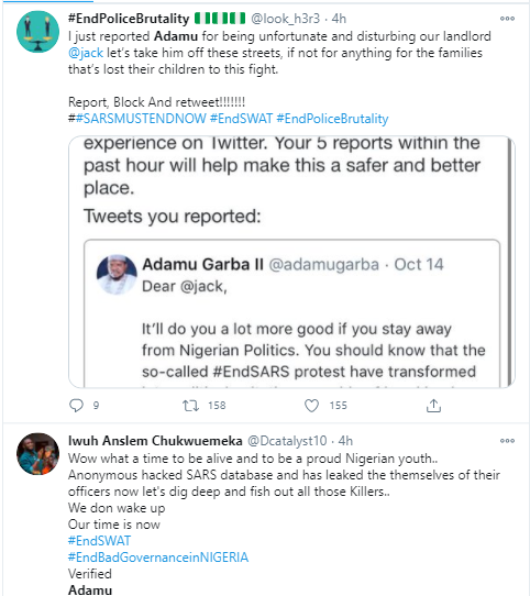 Nigerians drag former Presidential aspirant, Adamu Garba over his threat to sue Twitter CEO Jack Dorsey for supporting #EndSARS protest