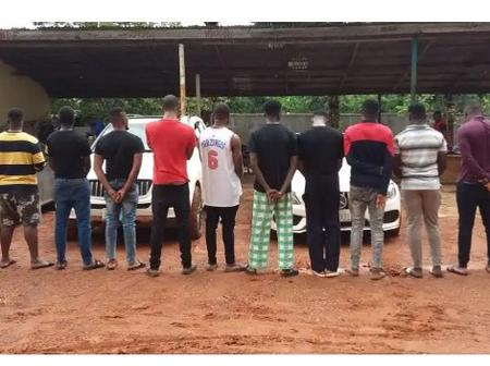 8 Exotic Cars Seized As EFCC Arrested 14 Suspected Internet Fraudsters In Anambra.