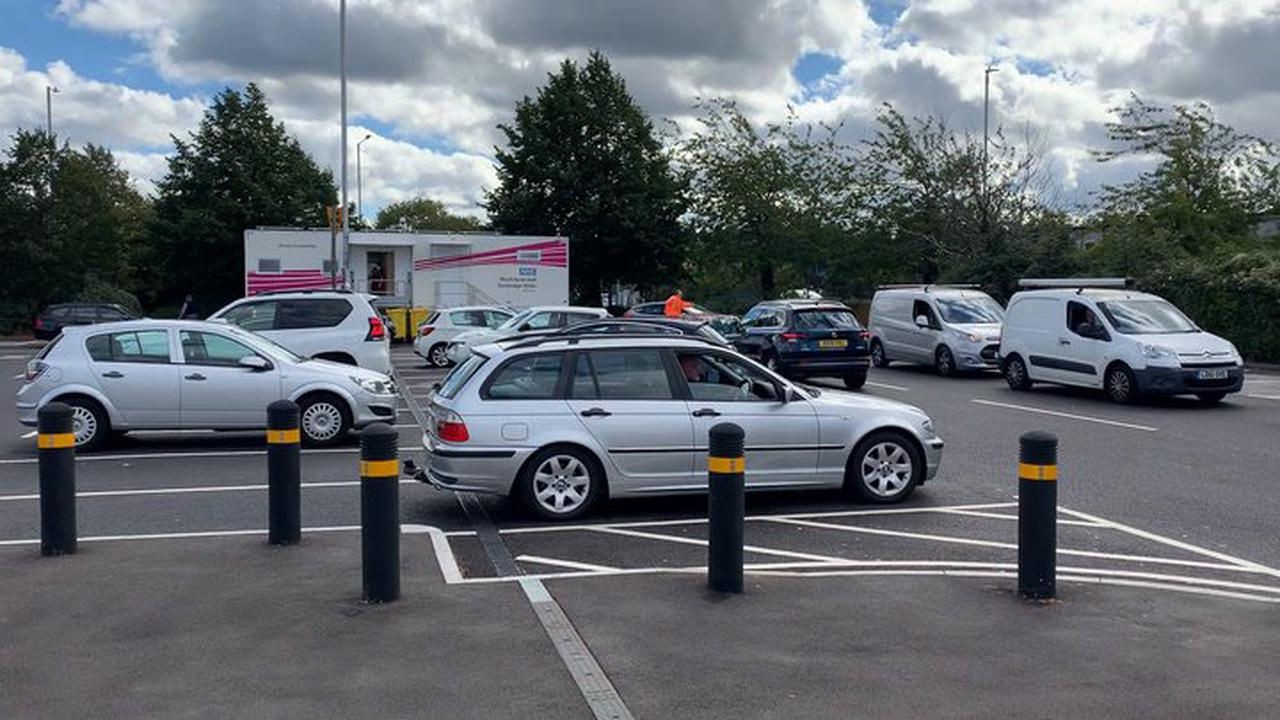 Tonbridge Sainsbury's footage shows snaking petrol station queues as fuel crisis reaches fourth day