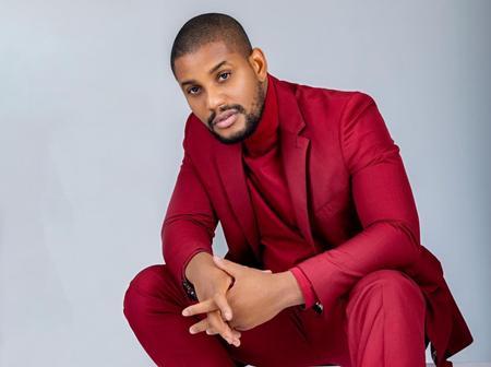 Alexx Ekubo Stuns In Red Suit As He Celebrates His Birthday Today
