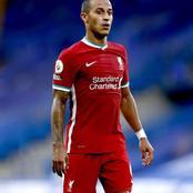 Liverpool : Thiago Alcantara absent pour deux matchs