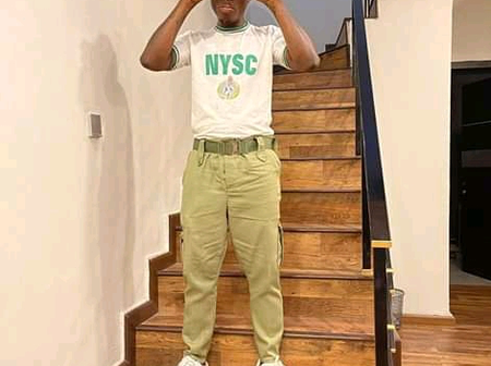 Photos of Zlatan Ibile as he celebrates is POP from NYSC.