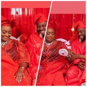 Actor Peters Ijagbemi And Actress Ronke Odusanya Shares Lovely Wedding Photos On Set Of Abamoda.