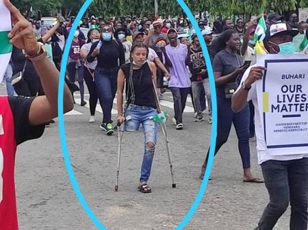 After Joining End SARS Protesters, They Raise Over N4 Million For This Lady With One Limb