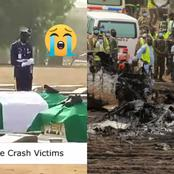 People Sends Farewell To Plane Crash Victims As Live Video Of Their Burial Surfaces Online