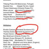Mamelodi Sundowns The Team With The Most Players Called Coach Molefi Ntseki to the Squad: See Them