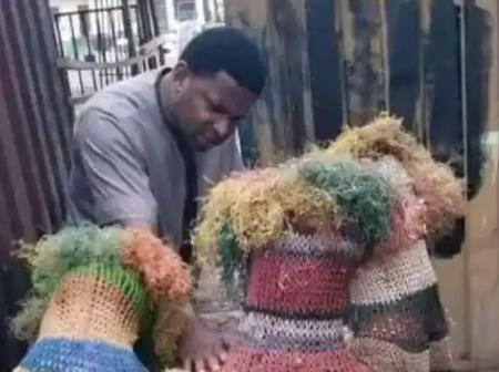 People Reacted as Masquerades Kneel in Front of Pastor, See What the Pastor Did Instead