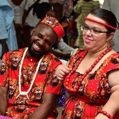 Igbo man celebrates after he wedded his beautiful Portuguese wife