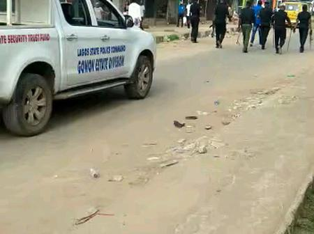 Pandemonium as hausa bike riders and area boys clashed in gowon estate