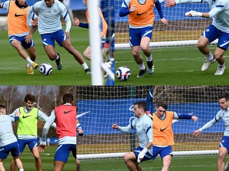 While others are away on international duty, see what Chelsea stars did at Cobham today