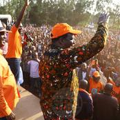 Reactions as Raila Leads ODM Party Campaign Trail in Vote Hunt in Matungu (Photos)