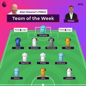 This is Alan Shearer's EPL team of the week (TOTW), Leeds utd dominates, Chelsea right back amongst