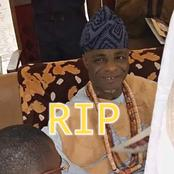 Adejoh, Igala Traditional Ruler Is Dead, See What Led To His Sudden Death