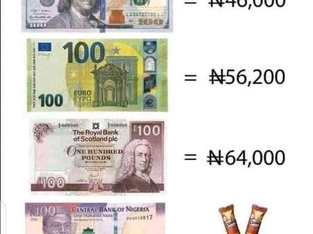 Check Out The Pictures That Explain The Current Power Of Naira.