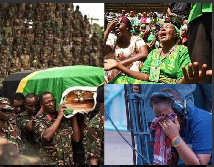 bd45e12e3d044332bf0e727968d9ed31?quality=uhq&resize=720 - Sad Moment: Tears Flow As President John Magufuli's body Is Being Carried To Church - Sad Scenes