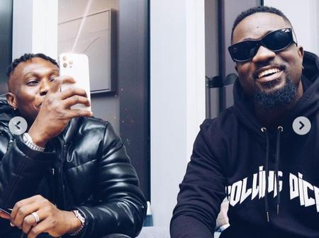 Zlatan Ibile links up with Sarkodie again as he lands in Ghana. (Photos)