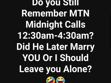Do you still remember MTN free night calls