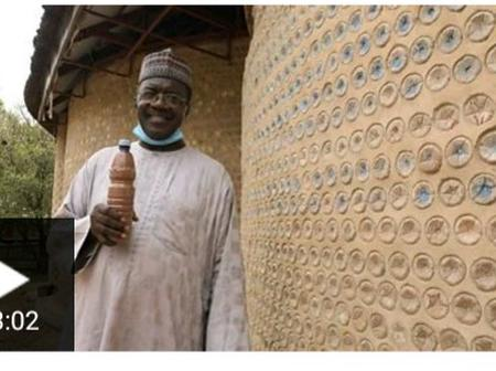 Meet The Nigerian Man Who Build A House With 20,000 Plastic Bottles